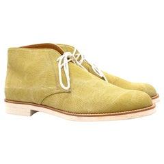 Tanino Crisci Pistachio Canvas Ankle Boots 7