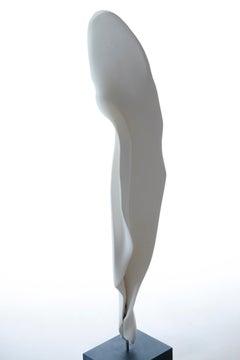 Ceramic Porcelain,  Black Marble, Abstract Sculpture: 'Gentle'