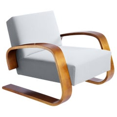 """Tank"" Armchair in Birch and Fabric Upholstery by Alvar Aalto & Artek"