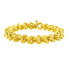 Tannler Mogul Motif Gold Bracelet 1960s Swiss