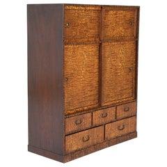 Tansu in Elm Wood Case Cabinet