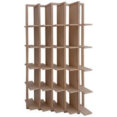 Tansversal, Maple Bookshelf and Room Divider