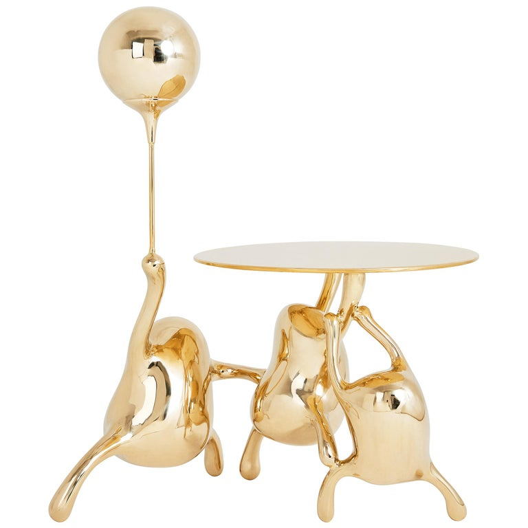 Tantan Side Table End Table Polished Brass Gold Nightstand Customizable For Sale