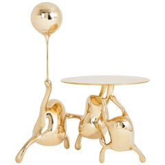 Tantan Side Table End Table Polished Brass Gold Nightstand Customizable