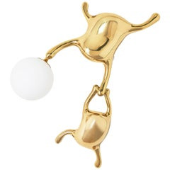 TanTan Wall Lamp No.4 Polished Brass and Glass