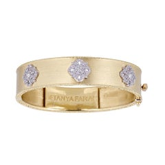 Tanya Farah 18K Gold Diamond Cloud Cuff