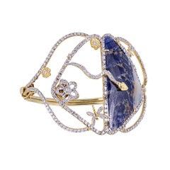 Tanya Farah Garden of Eden Sapphire Diamond Cuff