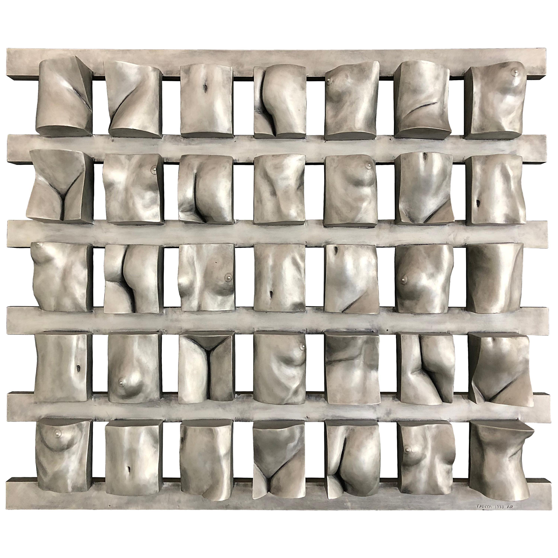 "Tanya Ragir ""Grid"" 1993, Aluminum Wall Sculpture"