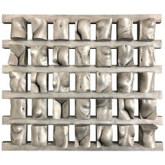 "Tanya Ragir ""Grid"" 1993, Aluminum Wall Sculpture"