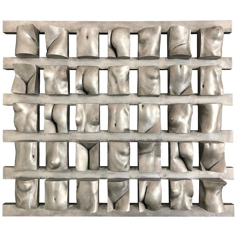 "Tanya Ragir ""Grid"" 1993, Aluminum Wall Sculpture For Sale"