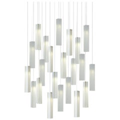 Tanzania 22, Blown Glass Pendant Dining Room Chandelier by Shakuff