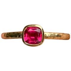 Tanzanian Pink Spinel Stacking Ring