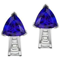 Tanzanite and Diamond Earring by Takat