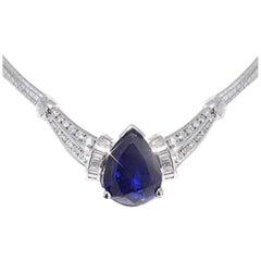 Tanzanite and Diamond Necklace by RayazTakat