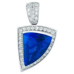 Tanzanite and Diamond Pendant by Takat