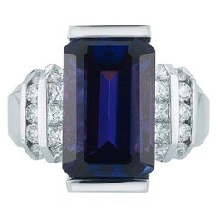 Tanzanite and Diamond Ring by Takat