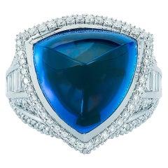 Tanzanite and Diamond Ring by Takat