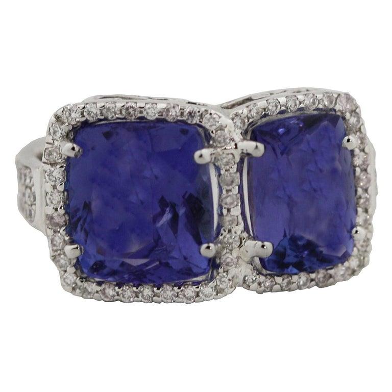 Tanzanite and Diamond Ring For Sale