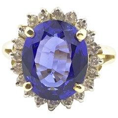Tanzanite and Diamond Ring Set in 14 Karat Gold #21-12139