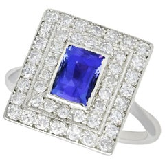 Tanzanite and Diamond White Gold Cocktail Ring