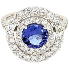 Tanzanite and Diamonds 14 Karat Gold Ring