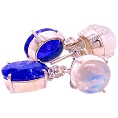 Tanzanite and Moonstone 'Nautical Collection'  Earrings