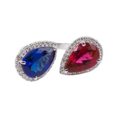 Tanzanite and Rubellite Ring