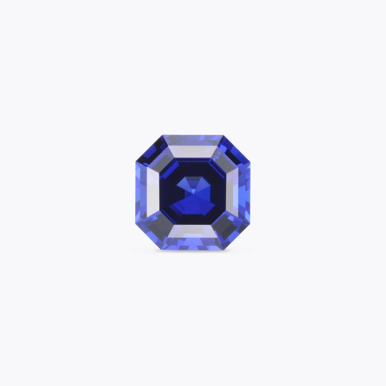 Tanzanite Ring Gem 8.23 Carat Asscher Cut In New Condition For Sale In Beverly Hills, CA