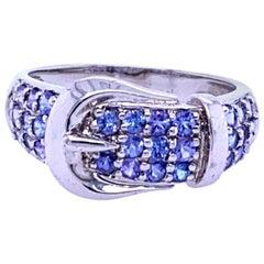 Tanzanite Buckle Ring