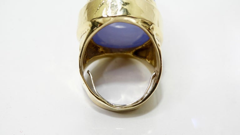 Tanzanite Cabochon Cocktail Ring  For Sale 1