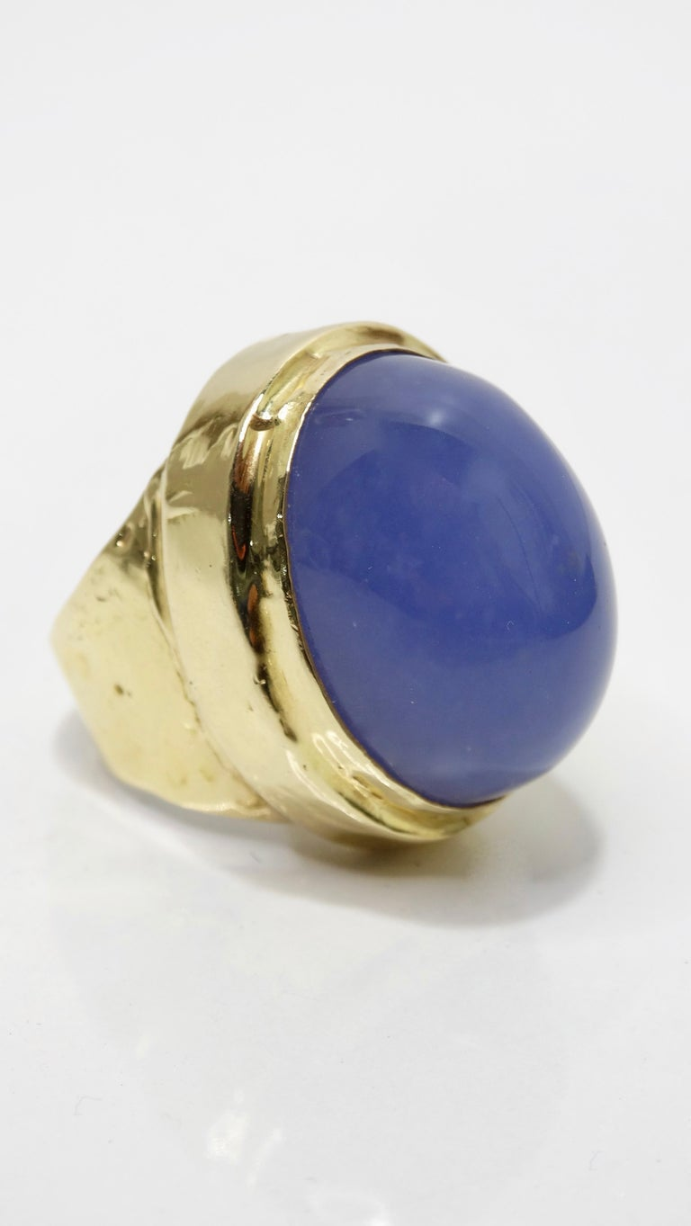Tanzanite Cabochon Cocktail Ring  For Sale 2