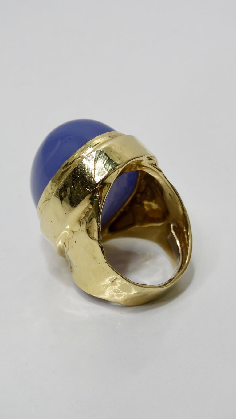 Tanzanite Cabochon Cocktail Ring  For Sale 4