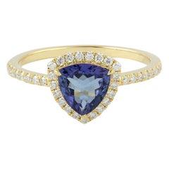 Tanzanite Diamond 18 Karat Gold Ring