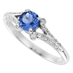 Tanzanite Diamond 18 Karat White Gold Ring