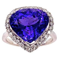 6. 12 Carat Tanzanite Diamond Cocktail Ring