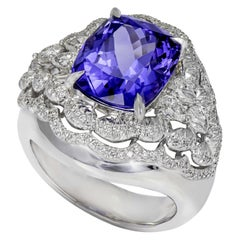 Tanzanite and Diamond Cocktail Ring