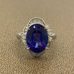 Tanzanite Diamond Platinum Ring
