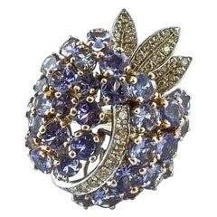 Tanzanite, Diamonds, White Gold Ring