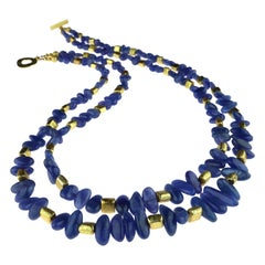 Tanzanite Double Strand Necklace