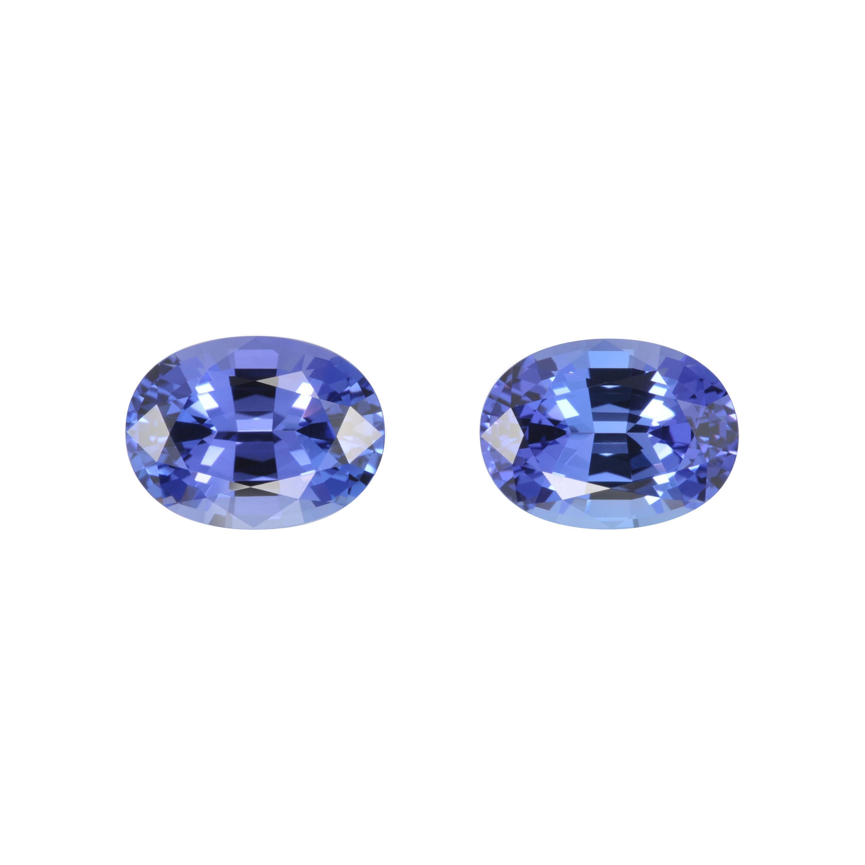 Tanzanite Earrings Gemstone Pair 10.26 Carats Oval Loose Gems