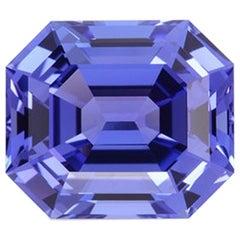 Tanzanite Ring Gem 11.77 Carat Emerald Cut