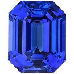 Tanzanite Ring Gem 18.80 Carat Emerald Cut