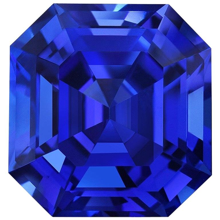 Tanzanite Ring Gem 5.16 Carat Unset Emerald Cut Loose Gemstone