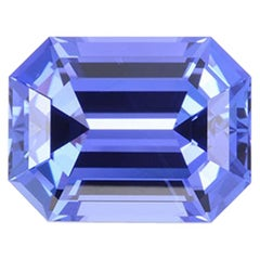 Tanzanite Ring Gem 7.38 Carat Emerald Cut
