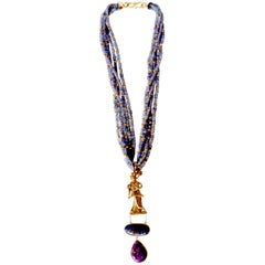 Tanzanite Gold Necklace