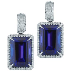Tanzanite Octagonal And Diamond Earring By RayazTakat