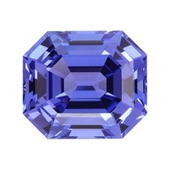 Tanzanite Ring Gem 11.77 Carat Emerald Cut Loose Unset Gemstone