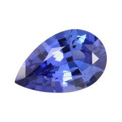 Tanzanite Ring Gem 2.17 Carat Pear Shape Unmounted Loose Gemstone