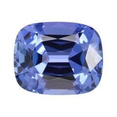 Tanzanite Ring Gem 4.02 Carat Cushion Loose Gemstone