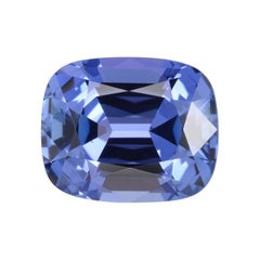 Tanzanite Ring Gem 4.02 Carat Cushion Loose Gemstone